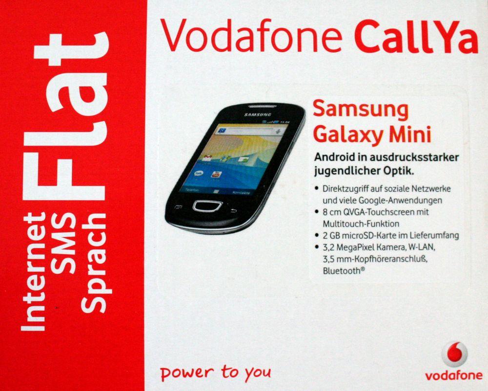 Samsung-Galaxy-Mini-schwarz-GT-S5570-Vodafone-CallYa-S5570-NEU
