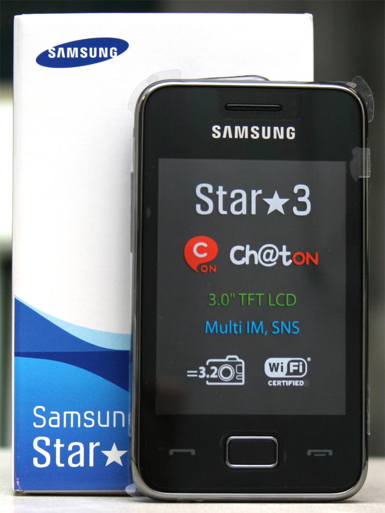 samsung star 3 gt s5229 schwarz neu ohne lock touch handy. Black Bedroom Furniture Sets. Home Design Ideas