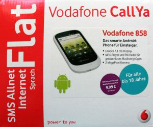 vodafone 858 smart white callya paket android handy neu ebay. Black Bedroom Furniture Sets. Home Design Ideas