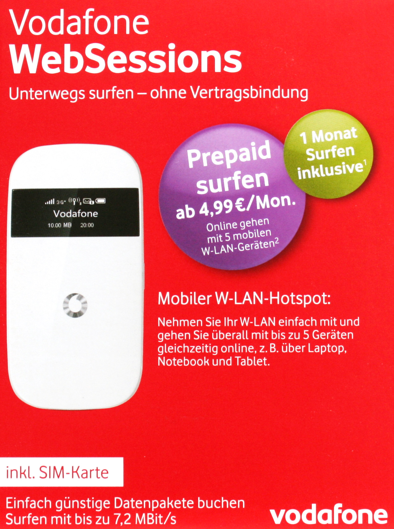 vodafone r203 mobiler wlan hotspot mit sim karte zum. Black Bedroom Furniture Sets. Home Design Ideas