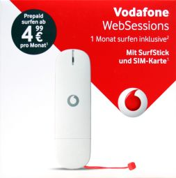 vodafone websession usb umts stick k4201 z wei neu k4201 prepaid ohne vertrag ebay. Black Bedroom Furniture Sets. Home Design Ideas